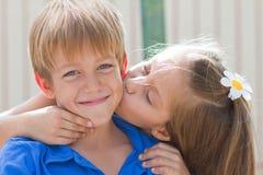 Cute little children friends Stock Photos