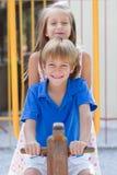Cute little children friends Stock Image