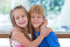 Cute little children friends Royalty Free Stock Photos