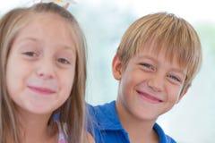 Cute little children friends Stock Images