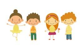 Cute little children, kids of different nationalities vector Illustration vector illustration