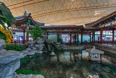 Little Chinese Garden and a Pond Royalty Free Stock Image