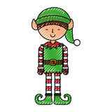 Cute little christmas boy elf Stock Image