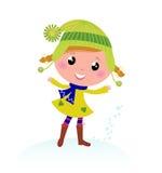 Cute little Christmas Girl. Royalty Free Stock Photos