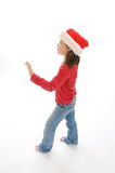 Cute little christmas girl 4 Stock Photo