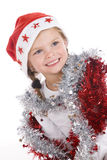 Cute little christmas girl Stock Photo