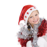 Cute little christmas girl Royalty Free Stock Photography