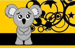 Cute little chubby koala cartoon expression background Royalty Free Stock Photos