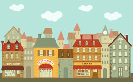 Cute little city Royalty Free Stock Images