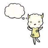 cute little cloud monster cartoon Royalty Free Stock Photos
