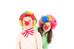 Cute little clowns Stock Photos