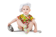 Cute little cook Stock Photos