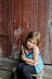 Cute little country girl Stock Images