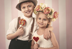 Cute little couple Royalty Free Stock Images