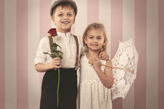 Cute little couple Stock Photos