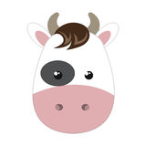 Cute little cow animal character Stock Photography