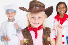 Cute little cowgirl Stock Photo