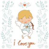 Cute little cupid Stock Photos