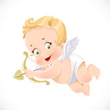 Cute little cupid aiming an arrow Royalty Free Stock Photography