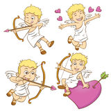 Cute little cupid  on a white background Royalty Free Stock Photos