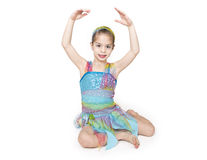Cute Little Dancer Girl royalty free stock image