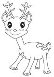 Cute little deer coloring page. Useful as coloring book for kids Stock Images