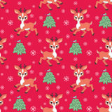 Cute little deer pattern Royalty Free Stock Image
