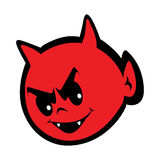 Cute little devil  eps illustration. Cute little devil head  eps illustration Royalty Free Stock Image