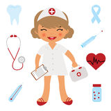 Cute little doctor Stock Image