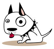 Cute little dog. Cute black and white little dog stock illustration