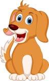 Cute little dog cartoon expression Stock Photos
