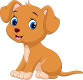 Cute little dog cartoon Royalty Free Stock Photo
