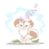 Cute little dog stock illustration