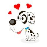 Cute little dog. Dalmatian vector animal illustration mammal background white pet dog cartoon Royalty Free Stock Images