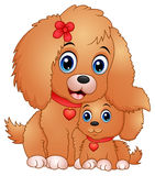 Cute little dogs cartoon Stock Images