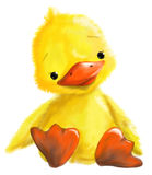 Cute little duck illustration Royalty Free Stock Images