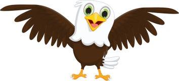 Cute little eagle cartoon Stock Photography