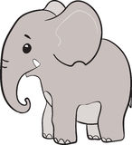 Cute little elephant cartoon character Royalty Free Stock Photo