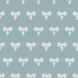 Cute little elephants. Blue Pattern. For design Royalty Free Stock Photography