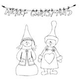 Cute little elves Royalty Free Stock Photos