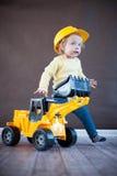 Cute Little Engineer. Cute Little Girl as an Engineer Stock Photo