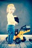 Cute Little Engineer stock image