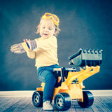 Cute Little Engineer Stock Photography
