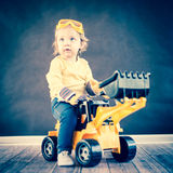 Cute Little Engineer royalty free stock images