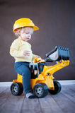 Cute Little Engineer Royalty Free Stock Photo