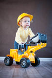 Cute Little Engineer Royalty Free Stock Photos