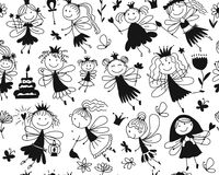 Cute little fairies collection, sketch for your design Royalty Free Stock Image
