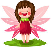 Cute little fairy. Illustration of isolated cute little fairy on white background Royalty Free Stock Photo