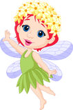 Cute little fairy cartoon stock illustration