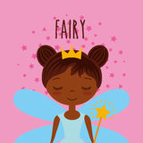Cute little fairy character Stock Image